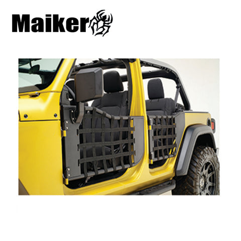 Maiker 4 Door Front + Rear Side Steel Tube Door With Mirror For Jeep Wrangler Jl 2018+
