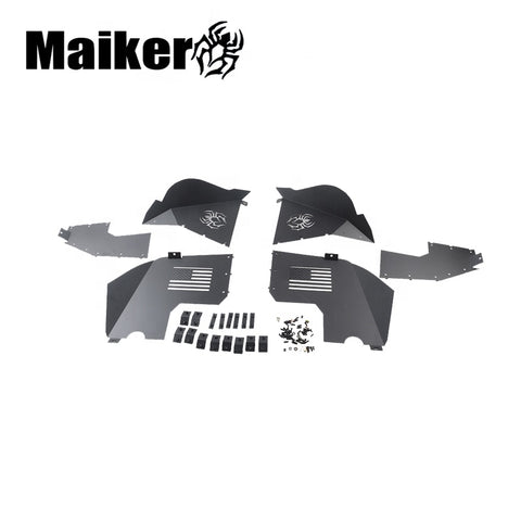Maiker New Inner Fender Liner Kit For Jeep Wrangler Jl Aluminum Inner Fenders Offroad Parts