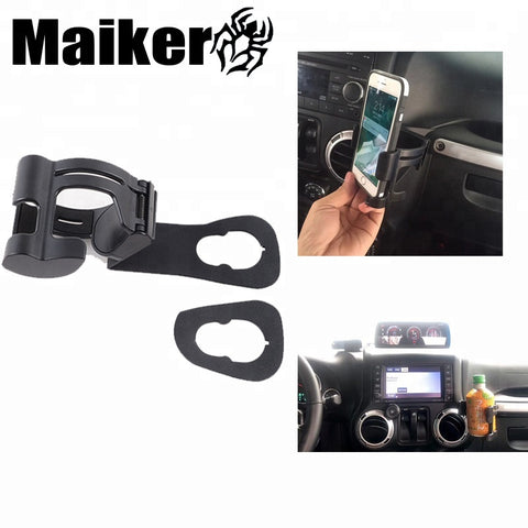 Universal Best Cell Phone Mounts For Jeep Wrangler Jk 07+ Accessories Cup Holder