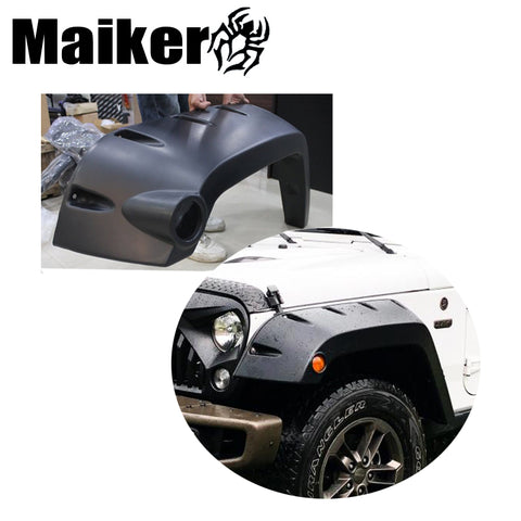 Wide Pocket Fender Flares For Jk Wheel Eyebrow Abs Fender Flares For Wrangler Jk Fender Light Accessories From Maiker