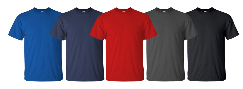 Men's 100% Cotton T-Shirt (5-Pack)