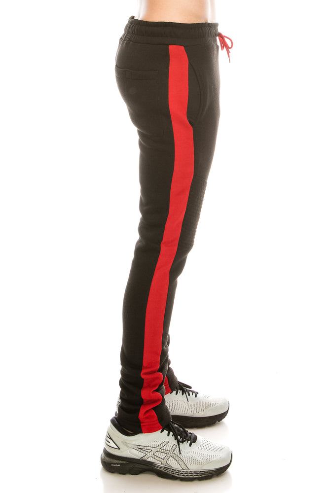 Brooklyn Xpress Mens Slim-Fit Fleece Striped Joggers