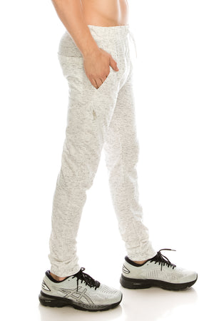 Brooklyn Xpress Mens Slim-Fit Fleece Joggers with Zipper Pocket