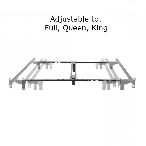 Full Queen King Heavy Duty Bed Frame with Headboard Brackets