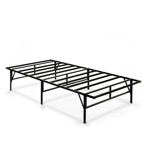 Twin XL Sturdy Metal Platform Bed Frame in Black