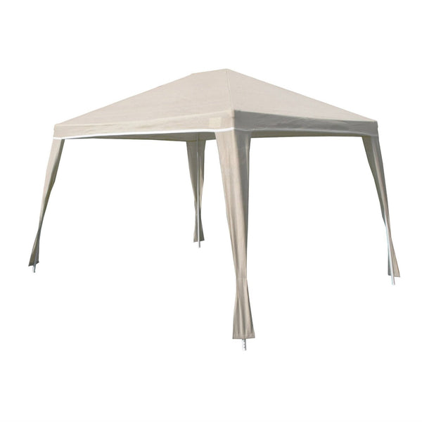 Weather Resistant 10-Ft x 12-Ft Gazebo with UV Blocking Canopy in Camel