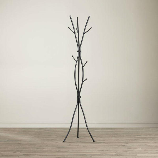 Metal Tree Branch Style Coat Rack with Multiple Hooks in Black