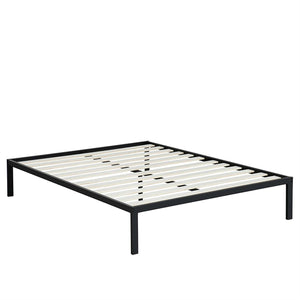 Full size Heavy Duty Metal Platform Bed Frame with Wood Slats