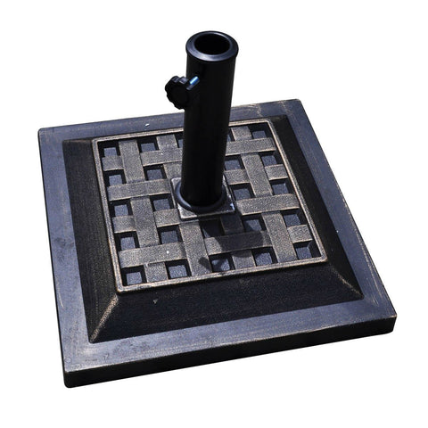 Bronze Finish Square Heavy Duty Outdoor Umbrella Stand Base