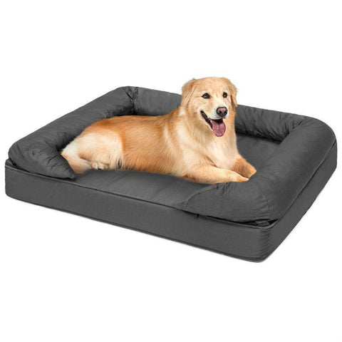 Comfy Memory Foam Dog Bed with Removable Grey Machine Washable Cover