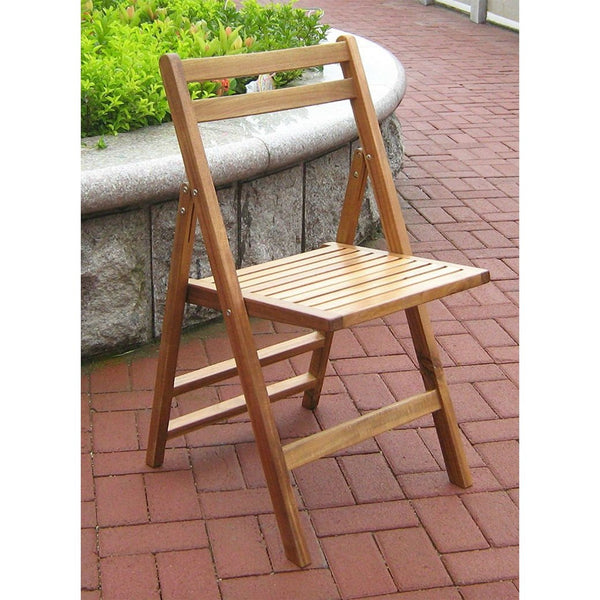Set of 4- Outdoor Wooden Folding Patio Chairs