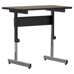 Stand Up Desk Adjustable Height Sitting Standing Writing Table in Walnut