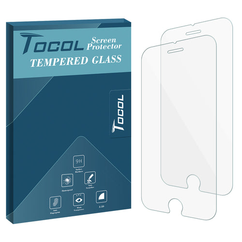 TOCOL iPhone 8 Plus Screen Protector Tempered Glass Film, 2-Pack