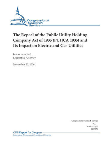 The Public Utility Holding Company Act
