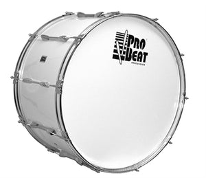 Pro Beat Marching Bass Drum (101-MDH2410BWH) - Science On Supply