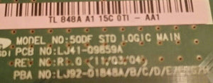 Samsung PN51d530A3 Main / Logic Board ( LJ92-01848A ) - Science On Supply