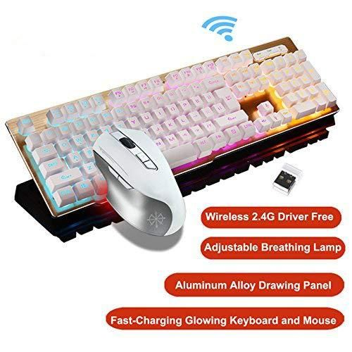 Rechargeable Backlit Gaming Keyboard Mouse Fast Charging,Wireless 2.4G - Science On Supply