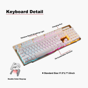 Rechargeable Backlit Keyboard,2.4Ghz Wireless Illuminated - Science On Supply