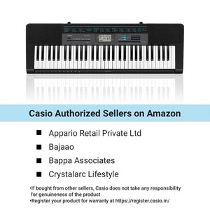 Casio CTK-2550 61-Key Portable Keyboard with App Integration - Science On Supply