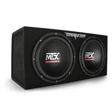 MTX Audio Terminator Series TNE212D 1,200-Watt Dual 12-Inch Sub Enclosure - Science On Supply