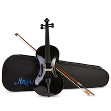 Load image into Gallery viewer, ARTALL 4/4 Handmade Student Acoustic Violin Beginner Pack (Glossy Black) - Science On Supply