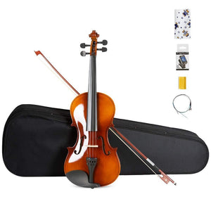 ARTALL 4/4 Handmade Student Acoustic Violin Beginner Pack (Glossy Antique) - Science On Supply