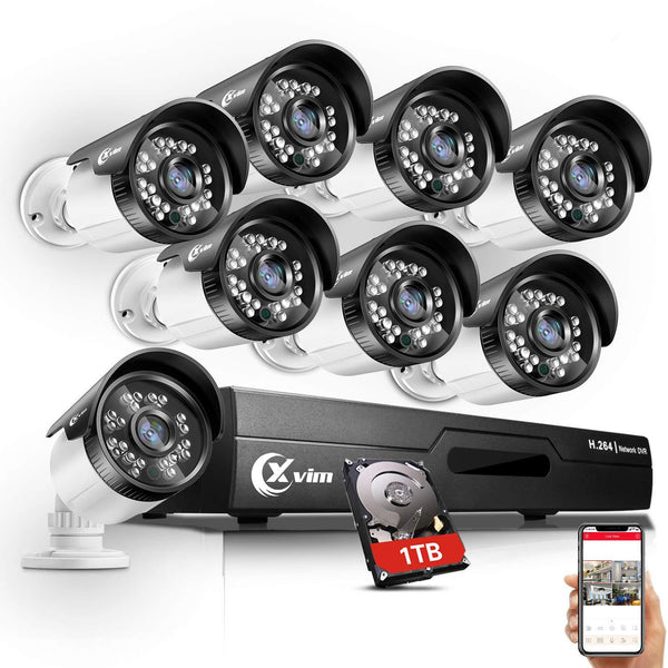 XVIM 720P Outdoor Home Security Camera System - 8 Channel - Science On Supply