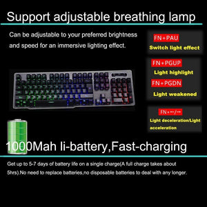 Rechargeable Keyboard and Mouse Fast Charging,Wireless 2.4G - Science On Supply