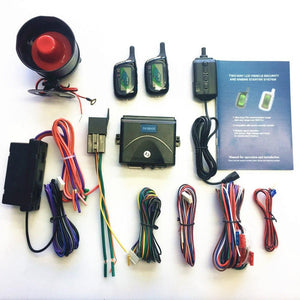 Vehicle Security Paging Car Alarm 2 Way LCD Sensor Remote Engine Start - Science On Supply