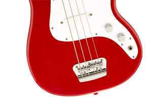 Squier by Fender Bronco Bass, Torino Red with Maple Fingerboard - Science On Supply