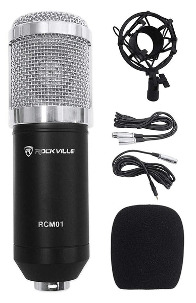 Pro Studio Recording Condenser Microphone Mic+Metal Shock Mount - Science On Supply