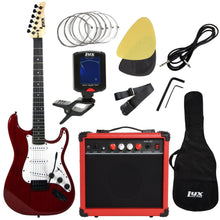 Load image into Gallery viewer, LyxPro Electric Guitar with 20w Amp, Package (Red) - Science On Supply