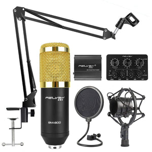 Professional BM-800 | Cardioid Condenser Microphone Set - Science On Supply