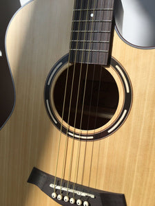 "Beginner Acoustic Guitar Ranch 41"" Full Size Solid Wood Cutaway (Beginners) - Science On Supply"