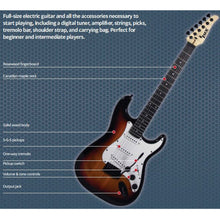 Load image into Gallery viewer, LyxPro Full Size Electric Guitar with 20w Amp, Package (Sunburst) - Science On Supply