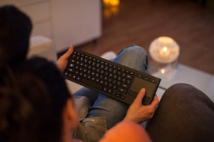 Logitech K830 Illuminated Living-Room Keyboard with Built-in Touchpad - Science On Supply