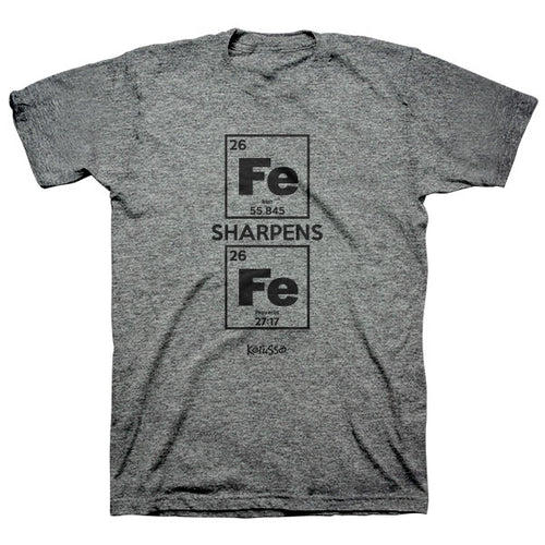 Kerusso® Christian T-Shirt Iron Sharpens Iron - Science On Supply