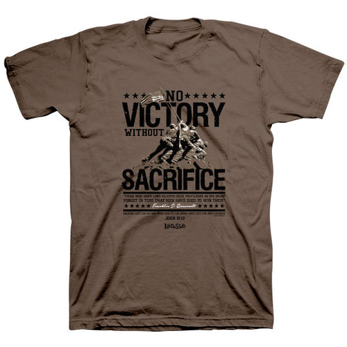 Kerusso® Christian T-Shirt Roosevelt No Victory Without Sacrifice - Science On Supply