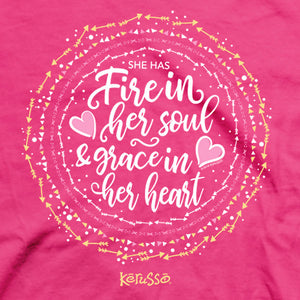 Kerusso® Womens T-Shirt Fire In Her Soul - Science On Supply