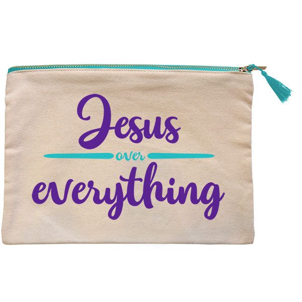 grace & truth® Jesus Over Everything Zipper Bag - Science On Supply
