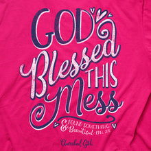 Load image into Gallery viewer, Cherished Girl® Womens T-Shirt God Blessed This Mess - Science On Supply