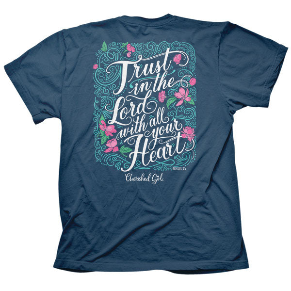 Cherished Girl® Womens T-Shirt Trust In The Lord - Science On Supply