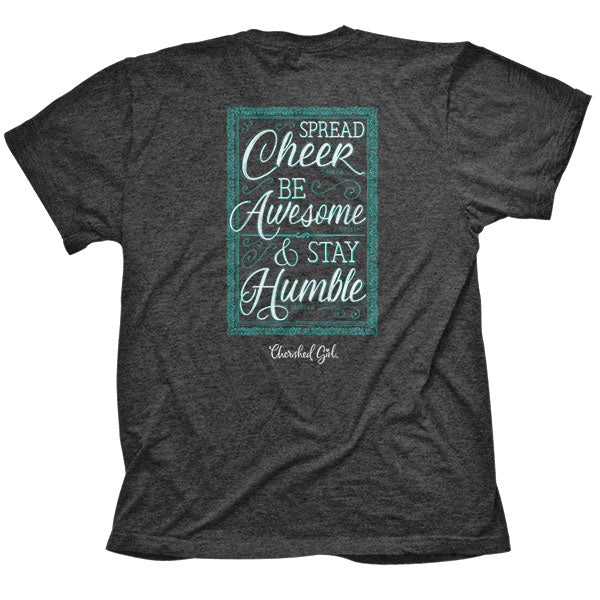Cherished Girl® Womens T-Shirt Spread Cheer Stay Humble - Science On Supply