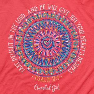 Cherished Girl® Womens T-Shirt Delight In The Lord - Science On Supply