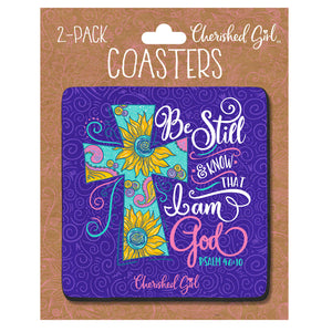 Cherished Girl Be Still Drink Coasters - Science On Supply