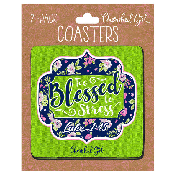 Cherished Girl Too Blessed Drink Coasters - Science On Supply