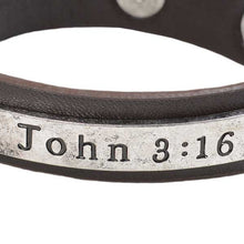 Load image into Gallery viewer, Guy's Bracelet - John 3:16 - Science On Supply