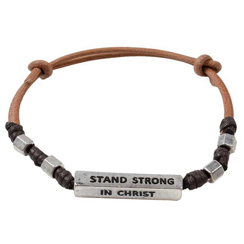 Guy's Bracelet - Stand Strong In Christ - Science On Supply