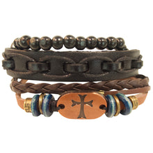 Load image into Gallery viewer, Faith Gear Copper Cross Mens Bracelet Set - Science On Supply