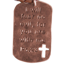 Load image into Gallery viewer, Faith Gear Fear No Evil Mens Necklace - Science On Supply